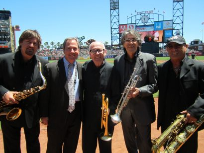 EBS horns with Mario ATT&T Park